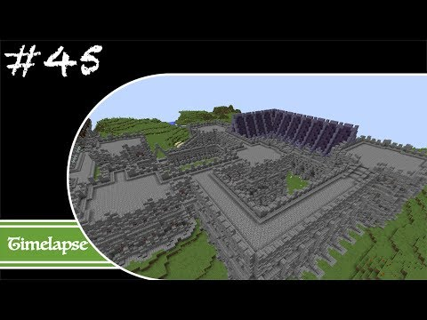 Minecraft Let's Build Timelapse - Fantasy - Week 45 - The Fort Walls Continued