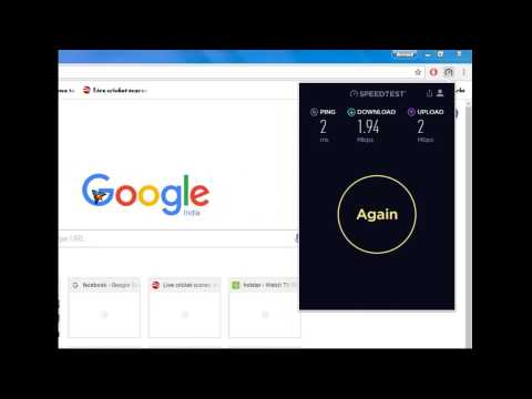 How to check Internet Speed | Windows 7 Online