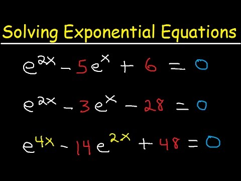 Solving Exponential Equations In Quadratic Form - Using Logarithms, With e