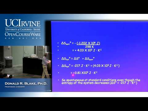 General Chemistry 1B. Lecture 9. Thermodynamics: Second & Third Law, Part III