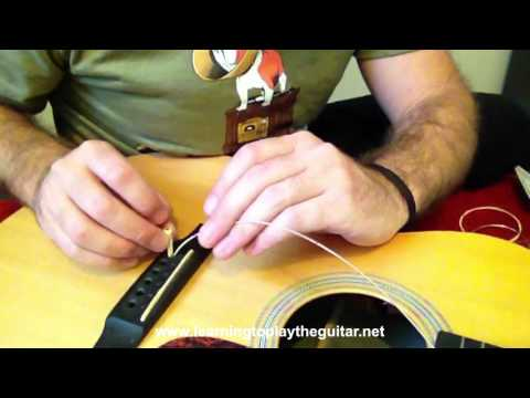 How To Change Strings On An Acoustic Steel String Guitar