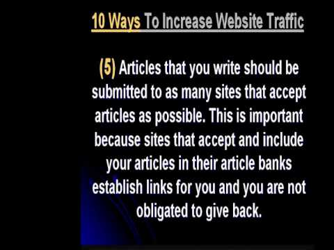 10 WAYS TO INCREASE WEBSITE TRAFFIC & Get exposure and traffic from the front page of Google