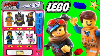 THE LEGO MOVIE 2 MINIFIGURE Toy Vending Machine Game w/ SURPRISE BLIND BAGS