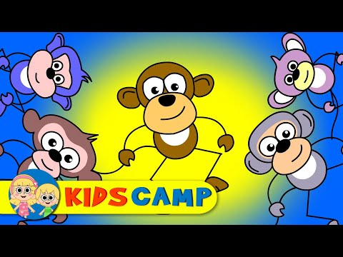 Five Little Monkeys Jumping on the Bed Nursery Rhymes Collection | Animation Rhymes for Babies