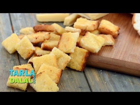 चीज़ क्रोटोन (Cheese Croutons) by Tarla Dalal