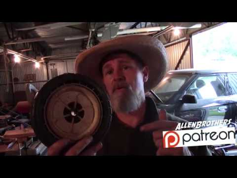 DIY: how to replace the tire tread on a push mower Honda Rotary Mower HR214/ Allen Brothers