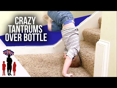 3 Year Old Throws Tantrum Over Bottle | Supernanny
