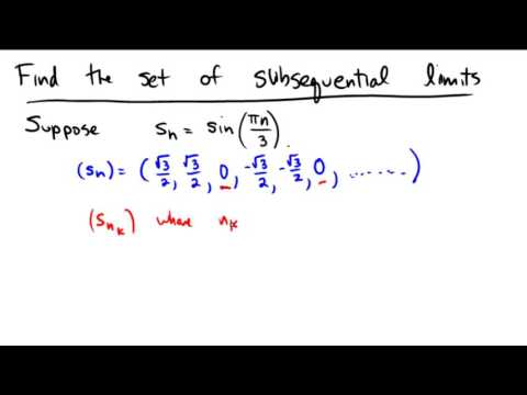 Finding the set of subsequential limits