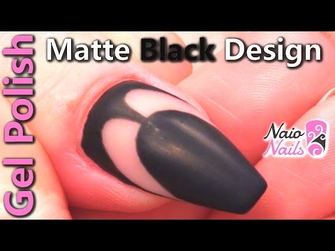 Gel Polish Design With Naio's Matte Top Coat