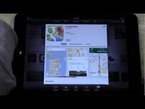 iPad (Mini) - How to Download Google Maps​​​ | H2TechVideos​​​