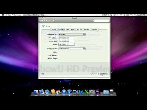 How to change IP and DNS server on Mac