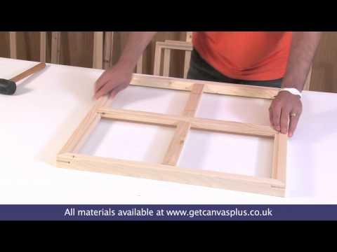 Canvas Stretcher Frames & Fitting Brace Bars