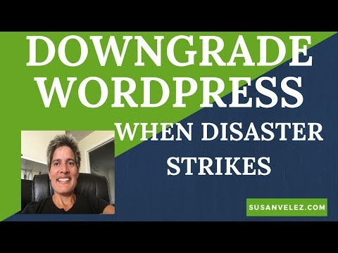 How To Downgrade WordPress To An Previous Version