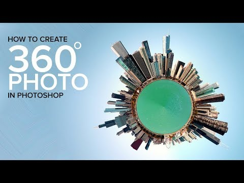 How to design 360 degree poster in photoshop