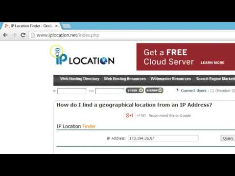 How to Find Website Server Location Using IP Address lookup