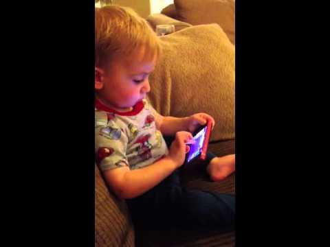 My 21 month old iPhone genius!