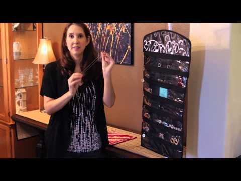 How to Hang Jewelry in a Storage Organizer : Home Organizing