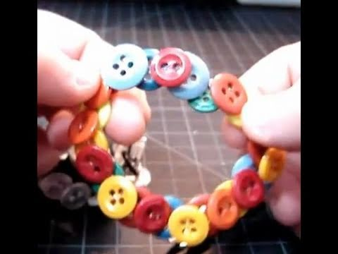 ► The Stretchable Button Bracelet - Craft Tutorial 1