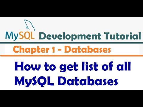 How to get list of all MySQL Databases - MySQL Developer Tutorial