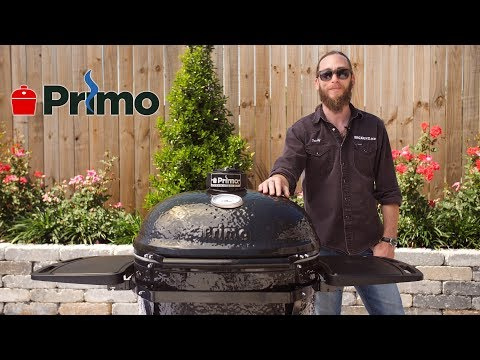 Primo Oval XL Charcoal Kamado Grill Overview | BBQGuys.com