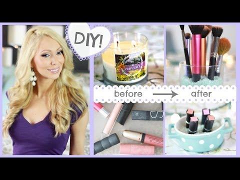 7 Easy DIY Makeup Storage Ideas!