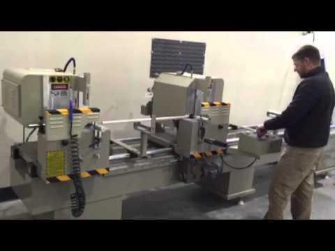 Aluminum cutting machine for manufacturing solar panel