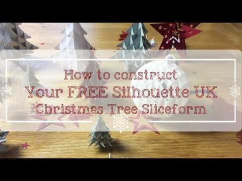 Constructing your Free Silhouette UK Slicefrom Christmas Tree