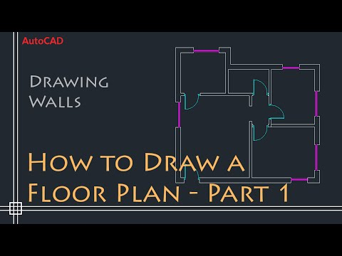 AutoCAD 2D Basics - Tutorial to draw a simple floor plan (Fast and efective!) PART 1