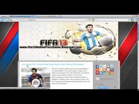 FIFA Soccer 13 Online Pass Game Download Free - Xbox 360 - PS3