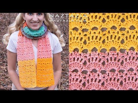 How to Crochet Sea Shell Scarf - DIY Tutorial - Seashell Shells Scarves Bufanda