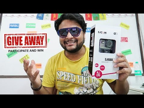 SJ 4000 Wi-Fi  Action Cam Giveaway | Participate and win |