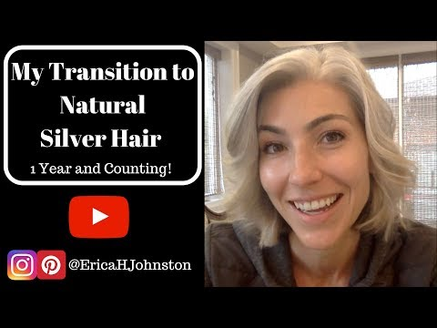 My Silver Hair Transition - 1 Year