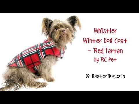Whistler Winter Dog Coat - Red Tartan