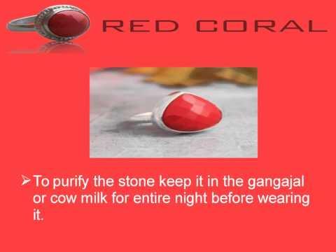 Method Of Wearing Red Coral Gemstone