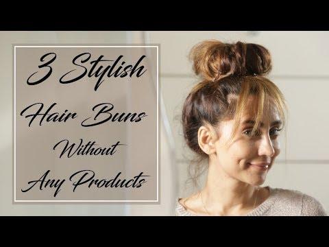3 Stylish Hair Buns Without Any Products | Anusha Dandekar