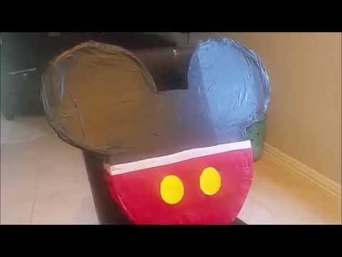 DIY Mickey Mouse Pinata- Birthday Idea