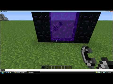building a minecraft nether world portal