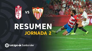 Resumen de Granada CF vs Sevilla FC (0-1)