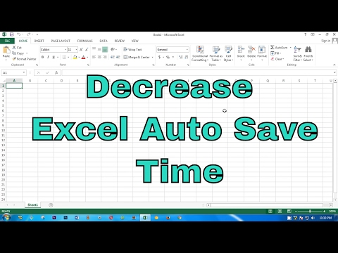 How to decrease excel auto save time to 1 minute