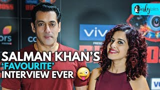 Salman Khan's 'Favourite' Interview Ever 😜 | Curly Tales