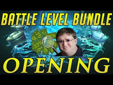 DOTA 2: BATTLE LEVEL BUNDLE OPENING - STEAM SUMMER SALE!