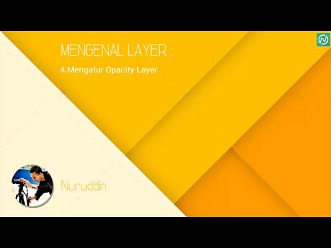 Belajar Adobe Photoshop CS6 Basic 13-Mengatur opacity layer