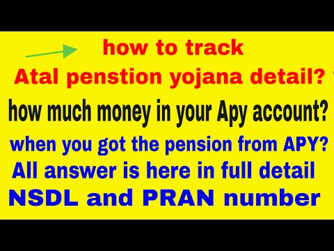 How to check the Atal penstion yojana detail - PRAN CARD and APY account
