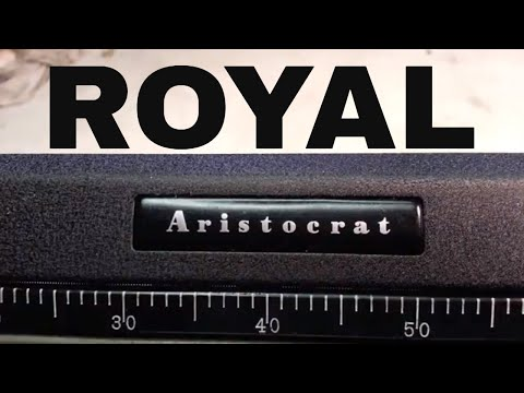 Royal Aristocrat Vintage Manual Typewriter Repaired Clean Serviced Before/After Black Textured Paint