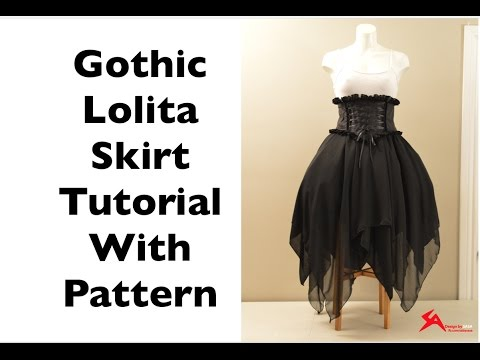 How to Make: Asymmetrical Gothic Lolita Chiffon Skirt Sewing Tutorial with Pattern