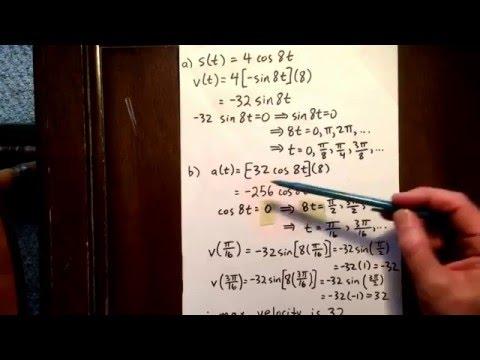 13 trig derivative: optimization word problem
