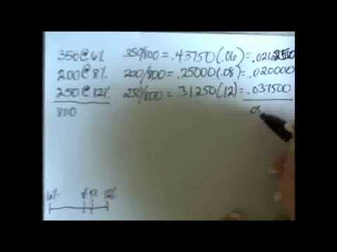 Weighted Average Cost of Capital and Example 11 1