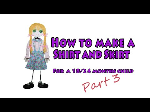 How to make a Shirt and Pleated Skirt - DIY sewing project - #3.3 (3of3)