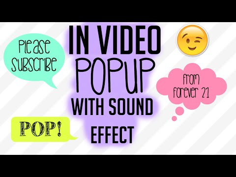 Popup With Sound Effect