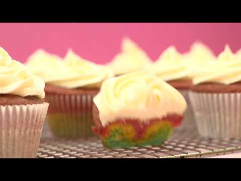 How to make COLOURFUL, RAINBOW CUPCAKES recipe